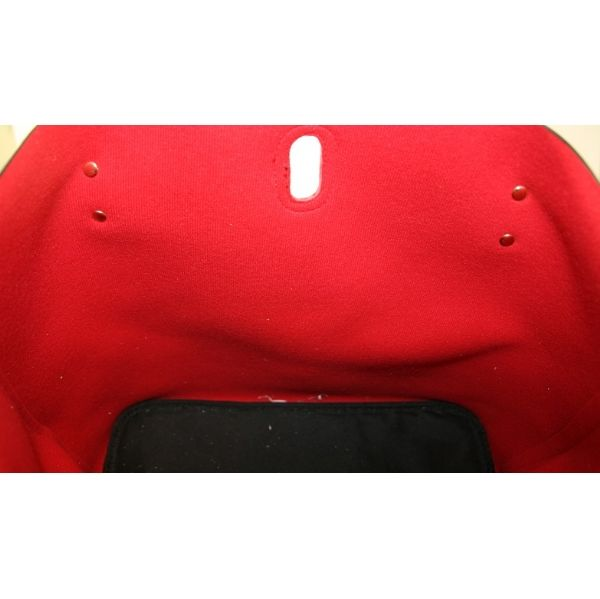 Sac cabas XL Kaytie Wu - Version Bleu Marine Intérieur rouge