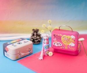 box enfant valise parfum et autocollants