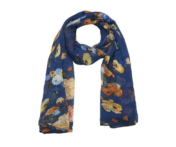 foulard_bleu_floral_châle_mjp