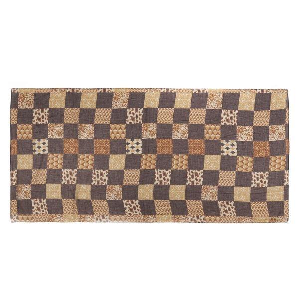 foulard_patchwork_animalier_marron_et_beige