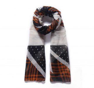 foulard_pois_et_formes_geometriques