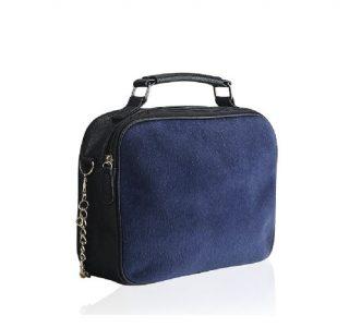 sac a main fourrure bleu