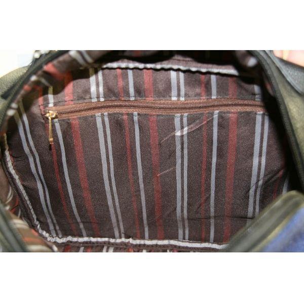 sac a main fourrure bleue chaine interieur